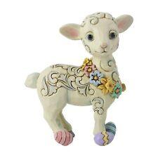 "Enesco E0 Heartwood Creek Jim Shore 5.3""H Pint Sized Lamb w/ Easter Eggs 6006231"