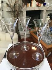 Elegant & Beautiful Set of 3 Crystal Tall Champagne Toasting Flutes
