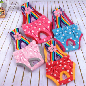 Washable Dog Diaper Female Pet Physiological Pant Reusable Puppy Doggie Diaper