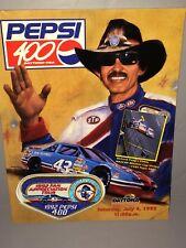 1992 Winston Cup PEPSI 400 AT DAYTONA RACE PROGRAM WITH PATCH NASCAR Petty