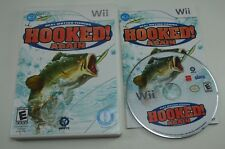 Hooked Again Real Motion Fishing - Nintendo Wii . COMPLETE in GOOD SHAPE CIB