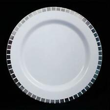 40 Slit Design Dinner /Wedding Disposable Plastic Plates, silver/gold- FREE SHIP