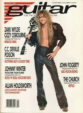 1989 March Guitar For The Practicing Musician - Magazine w/ Johnny Winter Poster