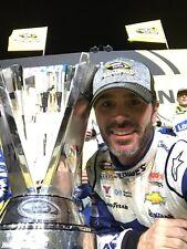 NASCAR SUPERSTAR JIMMIE JOHNSON WINS 7TH SPRINT CUP  8X10 PHOTO W/BORDERS