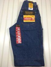 NEW Wrangler Legendary Gold Relaxed Fit Denim Blue Jeans Boys 16 R
