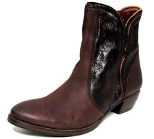 BOTTINES BOOTS 40 cuir marron zip country santiags BISOUS CONFITURE femme NEUF