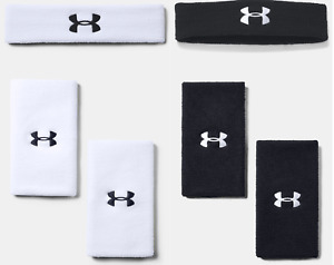 """Embroidered"" Under Armour Men's Headband or Wristband Tennis or Others UA"