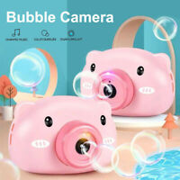 Electric Light Music Camera Bubble Blower Machine Outdoor Childrens Toys Gifts