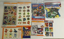 Lot Of Justice League Tattoos, Stickers, Banner Party/ Craft Items Kids Activity