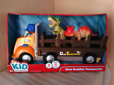 KID CONNECTION DINO BUDDIES TRANSPORTER W/ SOUNDS 3-PIECES TOY FIGURES TRUCK