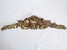 02D15 ANCIEN ORNEMENT BRONZE FRONTON MEUBLE AMEUBLEMENT DÉCOR COQUILLE LOUIS XV