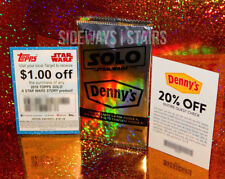 DENNY'S SOLO: A STAR WARS STORY WRAPPER & COUPON CARDS 20% off, $1 off Target