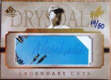 2005 UD Legendary Cuts Don Drysdale Cut Auto Los Angeles Dodgers /50