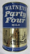Vtg Watneys Party Four Mild 2.2 Liter Party Blue Keg Gal Beer Can Steel Flat Top