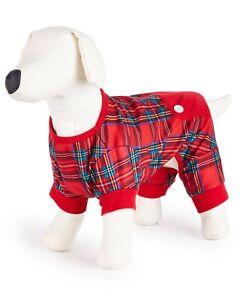 Family Pajamas Matching Brinkley Plaid Pet Pajamas Size MEDIUM