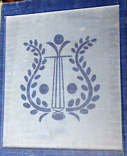Etched Harp Pattern Lower Glass, Steeple or Beehive Clock Size