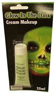 Glow in the Dark Face Paint Cream Makeup 25ml - Halloween Party Costume Supplies