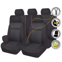 Jacquard Car Seat Covers Set Black SUV Truck Van Honda Splited 40/60 50/50 60/40
