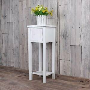 Telephone Bedside Table Nightstand Cabinet with Shelf for Bedroom Livingroom