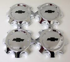 "Set of 4 Chrome 2011-2016 Chevy Silverado 2500 Center Caps for 20"" 8 Lug Wheels"