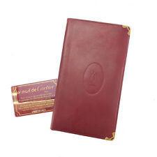 Cartier Wallet Purse Long Wallet Mastline Red Gold Woman Authentic Used G1037
