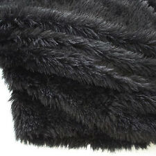 "Black PV plush velvet fabric faux fur fabric Photography backdrops 60"" BTY"