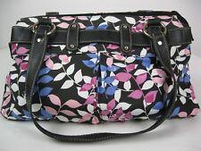 Croft & Barrow Purse Handbag Shoulder Bag Black White Blue Pink Cotton