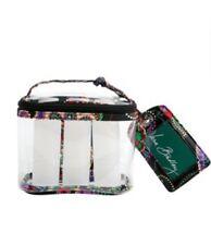 Vera Bradley Lighten Up Travel Duo Kiev Paisley Luggage Tag Clear Cosmetic Bag