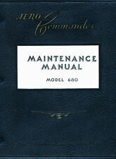 AERO COMMANDER ( ROCKWELL ) 680 MAINTENANCE MANUAL