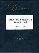 AERO COMMANDER ( ROCKWELL ) 680 MAINTENANCE MANUAL