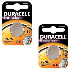 2X Duracell 2016, 3V Lithium DL2016 / CR2016 / KCR2016 / ECR2016 Battery
