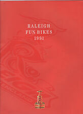 RALEIGH CHILDRENS CYCLE BROCHURE / CATALOGUE - FUN BIKES 1991 - ATB / STREET