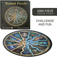 1000Pieces Educational Jigsaw Puzzle Round Puzzles Adult Kids Gift Constellation