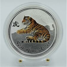 2010 Australian  -The Year of the Tiger 1 Oz Silver Colored Coin