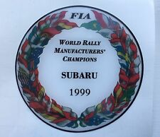 1999 WORLD RALLY MANUFACTURERS CHAMPION 555 V Limited DOMED PLASTIC BADGE
