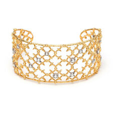 ALEXIS BITTAR Gold Crystal Studded Spur Lace Cuff Bracelet NEW! $195