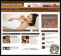 Chocolate  Niche Blog website   Affiliate Income   Free Hosting  Free Setup