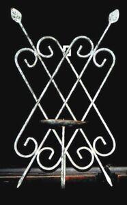 "Shabby Chic Pillar Candle Holder Metal Sconce Lattice Design Antiqued 16"" x 10"""