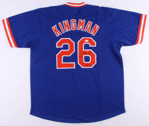 "Dave Kingman Signed New York Mets Blue Jersey Inscribed ""442 HR"" (JSA COA) KONG"