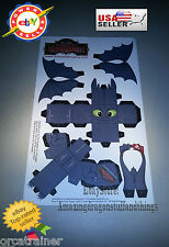 How to Train Your Dragon School of Dragons Toothless Paper Figure RARE