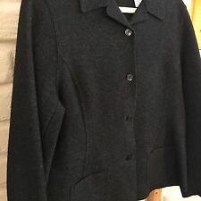 Valerie Stevens Wool Jacket Charcoal 4-button size 14, runs small Woolrich Blend