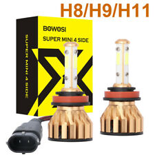 H11/H9/H8 2000W 300000Lm 4Sides Cree Led Headlight Lamp High Low Beam Bulb 6500K (Fits: Infiniti)