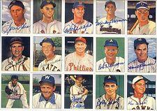 Multi Signed Auto Print 1950's Baseball Stars 10 SIGNATURES HOF PSA/DNA LOA