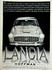 "Hoffman NYC & Beverly Hills 1960 Lancia Sedan Coupe Original Print Ad 8.5 x 11"""