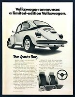 "1973 VW Volkswagen Sports Bug Beetle photo ""Limited Edition"" vintage print ad"