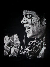 2009-Michael Jackson RIP-Factory Signature-Signed- Concert-Band-Black Shirt-2XL