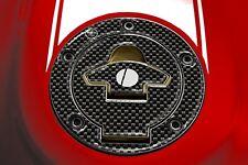 PROTEZIONE TAPPO SERBATOIO BENZINA ADESIVI in RESINA 3D CARBONIO per MOTO DUCATI