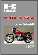 KAWASAKI Parts Manual KZ650 Z650 KZ650-B1 1977 Replacement Spares Catalog List