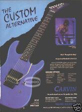 CUSTOM CARVIN GUITAR PINUP AD Craig Chaquico Starship
