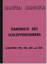 David Brown 990 950 880 850 Bedienungsanleitung Handbuch Schlepper Wartung 1962